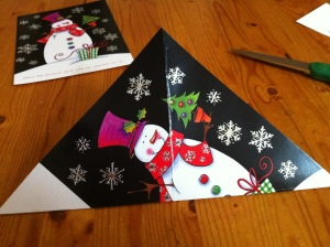 4.  Making the other diagonal fold