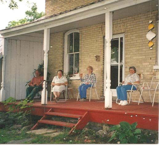 The west veranda at the farm.