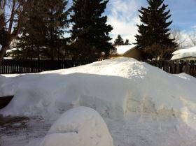 back yard snow 2