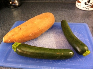 What can you do with two zucchini and a sweet potato?