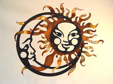 wall hanging sun moon copper at giftsofart.com