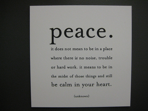 calm in your heart