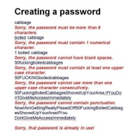 The Joy of Password Creation