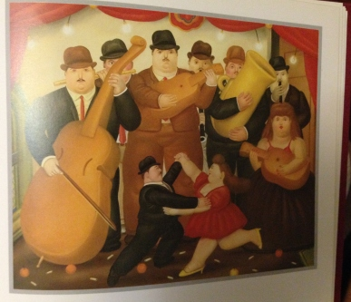 Dancing in Columbia by Fernando Botero