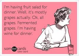 wine for dinner