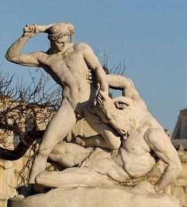 http://en.wikipedia.org/wiki/File:Theseus_Minotaur_Ramey_Tuileries.jpg