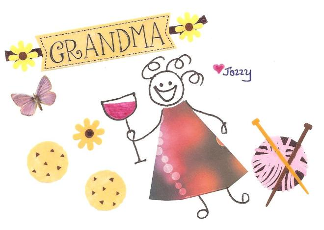 Happiness is having several small and mid-sized people call you Grandma.