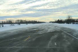 The highway heading home, except not that bad because there was no drifting snow.
